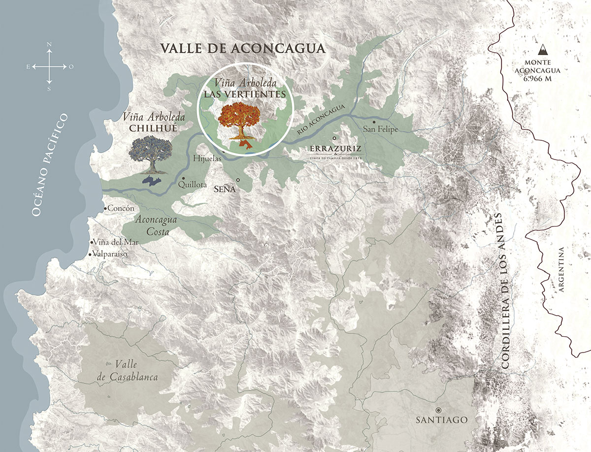 Aconcagua Valley map